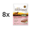 True Instinct No Grain Adult Medium/Maxi - losos in zelenjava - 300 g 8 x 300 g