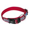 Nobby ovratnica najlon Style - rdeča 30 - 45 cm