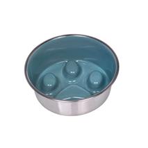 Nobby kovinska posoda Slowdown Paw, petrol - 16 cm/0,82 l