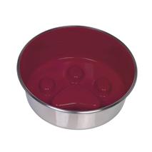 Nobby kovinska posoda Slowdown Paw, rdeča - 20 cm/1,60 l