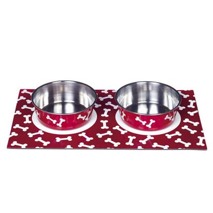 Nobby magnetna posoda in podstavek, rdeča - 2x0,92 l