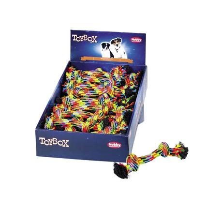 Nobby igrača vrv 2 vozla, pisana - 20 cm