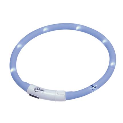 Nobby varnostna LED ovratnica Puppy, modra - do 45 cm