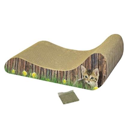 Nobby kartonasti praskalnik z mačjo meto Lounge - 48 x 21 x 16 cm
