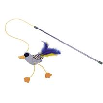 Nobby igrača palica in ptica s perjen in mačjo meto