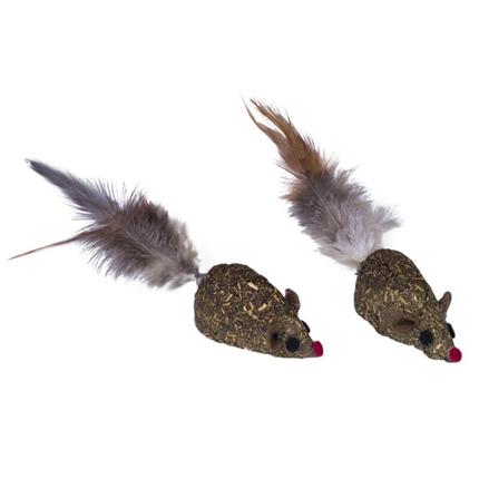 Nobby miš iz stisnjene mačje mete, 2 kos - 5 cm