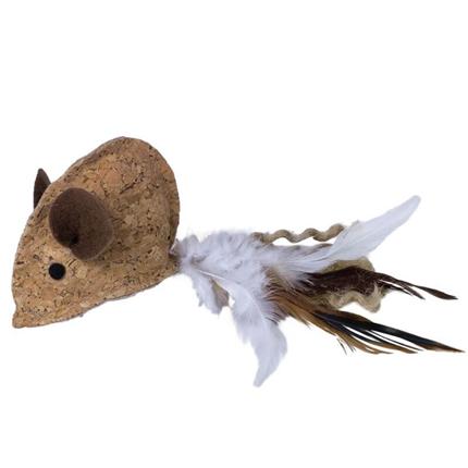 Nobby miš iz plute s perjem - 18 cm