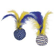 Nobby žoga iz blaga s perjem, 2 kos - 4 cm