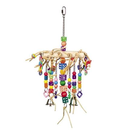 Nobby igrača za ptice z zvončki - 41 x 22 cm