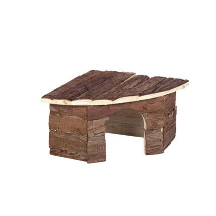Nobby lesena hiška Woodland Patty, kotna - 32 x 13 x 21 cm