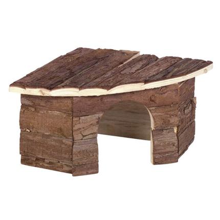 Nobby lesena hiška Woodland Patty, kotna - 42 x 15 x 30 cm
