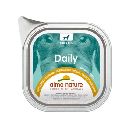 Almo Nature Daily - piščanec, šunka in sir - 100 g