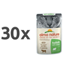 Almo Nature Holistic Anti-Hairball - govedina - 70 g 30 x 70 g