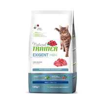 Trainer Natural Cat Exigent za izbirčne mačke - govedina