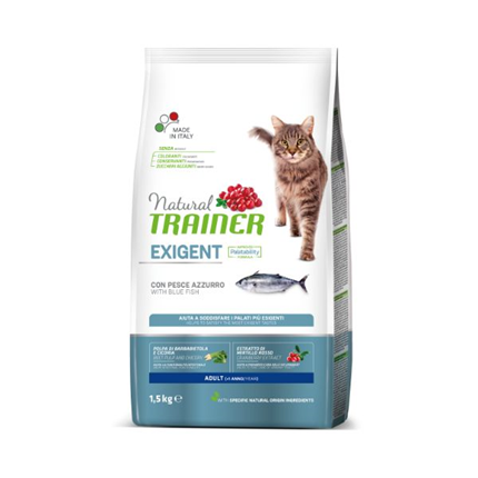 Trainer Natural Cat Exigent za izbirčne mačke - modra riba