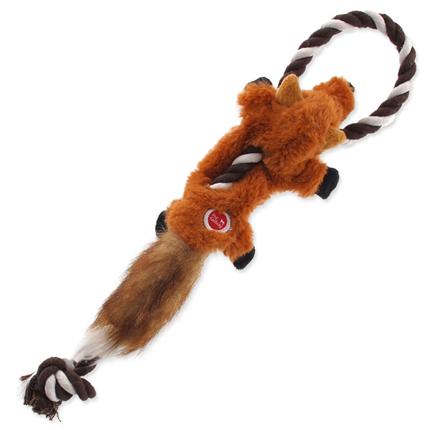 Dog Fantasy plišasta igračka Skinneeez, lisica z vrvjo - 35 cm