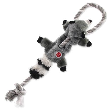 Dog Fantasy plišasta igračka Skinneeez, rakun z vrvjo - 35 cm
