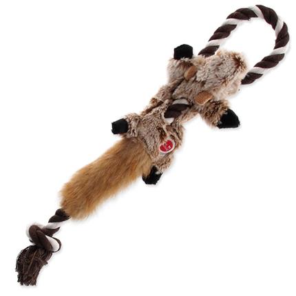 Dog Fantasy plišasta igračka Skinneeez, veverica z vrvjo - 35 cm