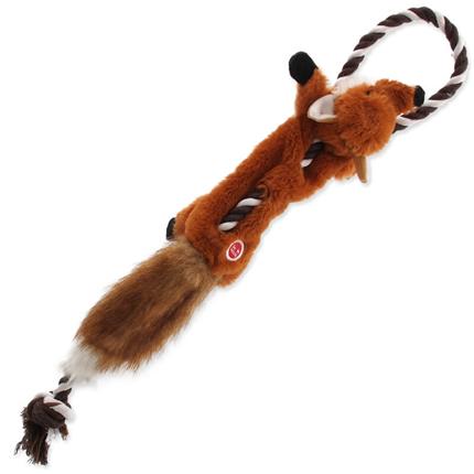 Dog Fantasy plišasta igračka Skinneeez, lisica z vrvjo - 57,5 cm