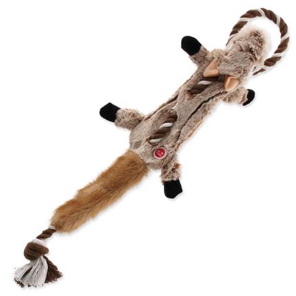 Dog Fantasy plišasta igračka Skinneeez, veverica z vrvjo - 57,5 cm