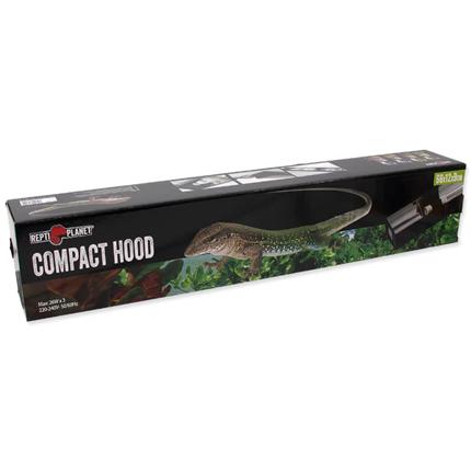 Repti Planet držalo za 3 žarnice Compact Hood - 66 x 12 x 9 cm