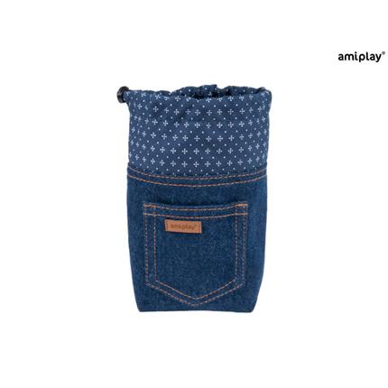Amiplay torbica za posladke Denim, temno modra - 10 x 7 x 14 cm
