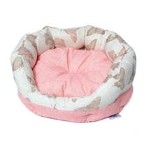 Leopet ovalno ležišče Santorini Puppy, roza - 45 cm