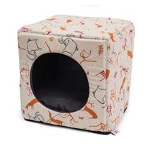 Leopet kocka Cubo, jamska slikarija - 40 x 40 x 40 cm