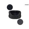 Amiplay okroglo ležišče Aspen, črna