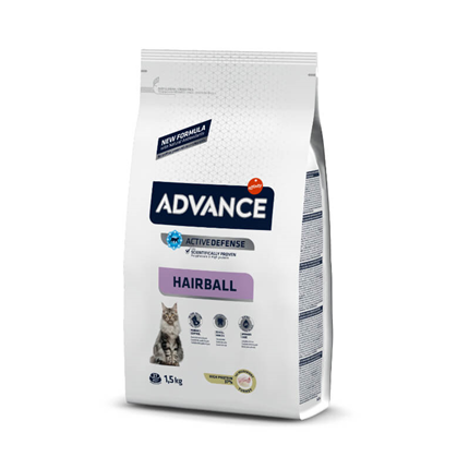 Advance Adult Hairball - puran in riž - 1,5 kg