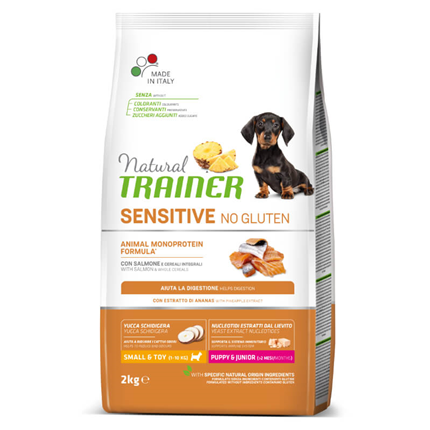 Natural Trainer Sensitive No Gluten Puppy & Junior Mini - losos
