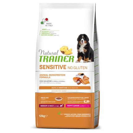 Natural Trainer Sensitive No Gluten Puppy & Junior Medium/Maxi - losos