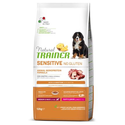 Natural Trainer Sensitive No Gluten Puppy & Junior Medium/Maxi - raca