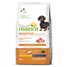 Natural Trainer Sensitive No Gluten Adult Mini - svinjina
