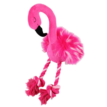 Pawise plišast flamingo + vrv - 40 cm