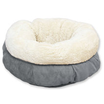 All For Paws ležišče za mačke Donut, siva - 45 cm