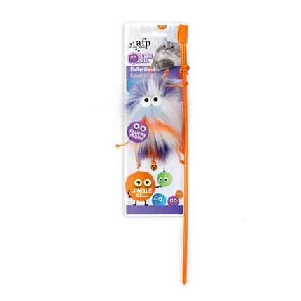 All For Paws palica in krznena žoga, oranžna - 115,5 cm
