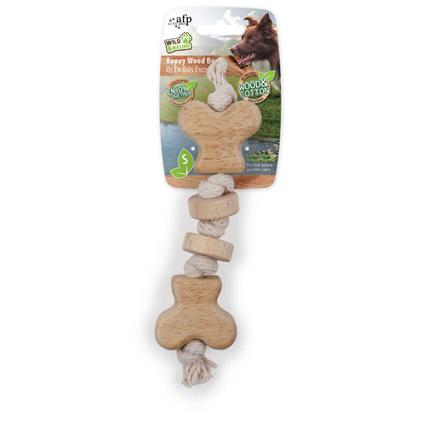 All For Paws igrača kost, vrv in les - 18 cm