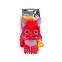 All For Paws plišasta igrača Monster s pisko, rdeč - 20,5 cm