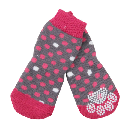 Pawise nogavice Anti-Slip, roza - 4 kos