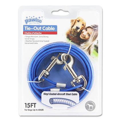 Pawise Tie-Out jeklena vrv za privez - do 27 kg