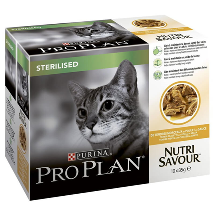 Pro Plan Sterilised Adult Multipack - piščanec - 10 x 85 g