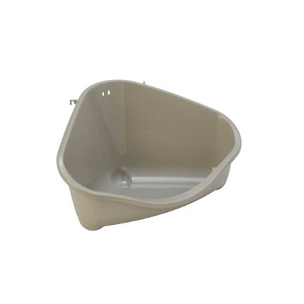 Moderna kotni WC za glodavce L, siv - 33 cm