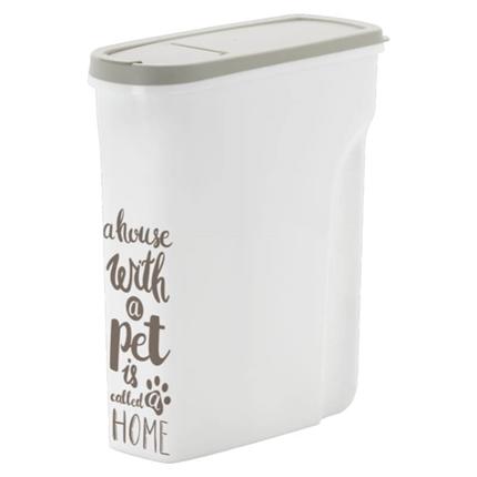 Moderna posoda za brikete Pet Wisdom XS, sivo bela - 5 l