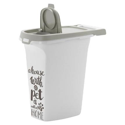 Moderna posoda za brikete Pet Wisdom M, sivo bela - 10 l