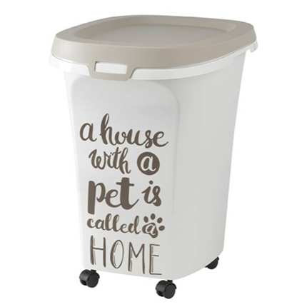 Moderna posoda za brikete Pet Wisdom Jumbo, sivo bela - 38 l