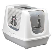 Moderna pokriti WC Cats In Love, sivo bel