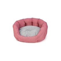 Leopet ovalno ležišče iz recikliranih materialov Softy Maya, roza - 55 cm