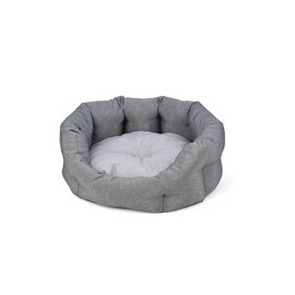 Leopet ovalno ležišče iz recikliranih materialov Softy Oreti, sivo - 55 cm