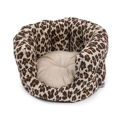 Leopet ovalno ležišče Softy Leopard - 55 cm